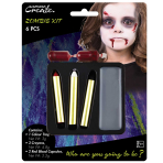 Basic Zombie Make Up Kit - 6 PKG/6
