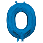 "Letter O Blue Minishape Foil Balloons 16""/40cm A04 - 5 PC"