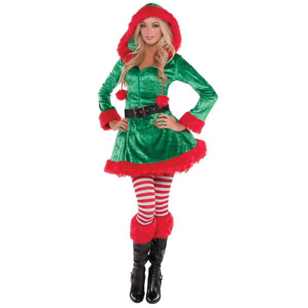 58a68437bd8 Adults Sassy Sexy Elf Costume - Size 14 - 16 - 2 PC   Amscan ...