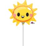 Happy Sun Face Mini Balloons A30 - 5 PC