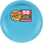 Caribbean Blue Paper Plates 23cm - 6 PKG/50