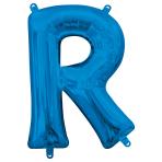 """Letter R Blue Minishape Foil Balloons 16""""/40cm A04 - 5 PC"""