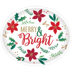 Christmas Wishes Oval Plates 30cm - 12 PKG/8