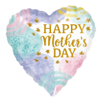 Happy Mother's Day Pastel Watercolour Standard HX Foil Balloons S40 - 5 PC