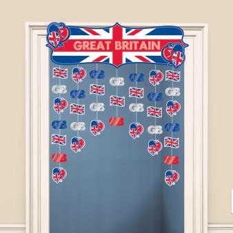 Great Britain Icons Door Curtains 1.2m h x 91cm w - 6 PC