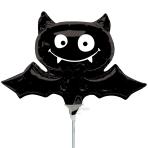 Halloween Black Bat Mini Shape Foil Balloons A30 - 5 PC