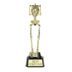 Best Costume Skeleton Trophy 24cm x 7.6cm - 6 PC