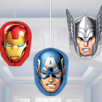 Avengers Honeycomb Decorations - 6 PKG/3
