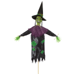 Scary Witch Garden Stakes 45cm x 1.2m - 6 PC