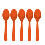 Orange Peel Heavy Weight Plastic Spoons - 12 PKG/48
