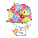 "Happy Mother's Day Pitcher Garland Foil Multi-Balloons 25""/63cm x 34""/86cm P45 - 5 PC"