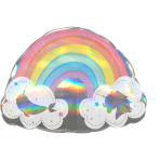 "Magical Rainbow Holographic SuperShape XL Foil Balloons 28""/71cm w x 20""/50cm h P40 - 5 PC"