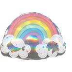 """Magical Rainbow Holographic SuperShape XL Foil Balloons 28""""/71cm w x 20""""/50cm h P40 - 5 PC"""