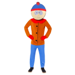 Southpark Stan Costume - Size Medium - 1 PC