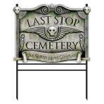 Last Stop Cemetery Signs 78cm - 4 PC