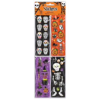 Halloween Stickers Strips - 6 PKG/36