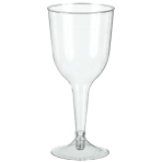 Clear Plastic Wine Glasses 295ml - 6 PKG/20