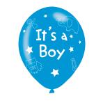 "It's A Boy Pink Latex Balloons 11""/27.5cm - 10 PKG/6"