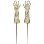 Zombie Hands Garden Stakes 11cm x 33cm - 3 PC
