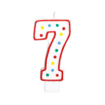 Giant Size Numeral Candles 13.3cm #7 - 12 PC