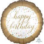 Happy Birthday Confetti Fun Standard Foil Balloons S40 - 5 PC