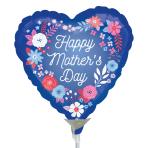 Artful Florals Mini Foil Balloons A15 - 5 PC