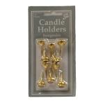 Candle Holder Gold  - 12 PKG/10