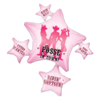 """Party Posse SuperShape XL Foil Balloons 32""""/81cm w x 35""""/88cm h P35 - 5 PC"""