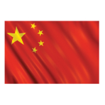 China Flag    - 1.5m x 90cm - 6 PKG