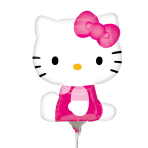 Hello Kitty Side Pose Mini Shape Foil Balloons A30 - 5 PC