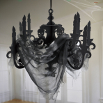 Haunted House Black Paper Candelabras - 3 PC