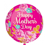 """Orbz Happy Mother's Day Pink Flowers 15""""/38cm x 16""""/40cm - G20 5 PC"""