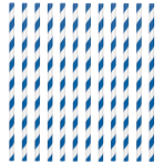 Bright Royal Blue Paper Straws 19cm - 12 PKG/24