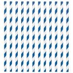 Bright Royal Blue Paper Straws 19cm - 12 PKG/24