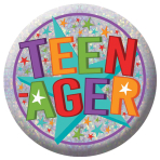 Teenager Holographic Badges 5.5cm - 12 PKG