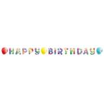 Balloon Fiesta Happy Birthday Letter Banner 1.4m x 15cm - 10 PKG