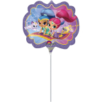 "Shimmer & Shine Mini Shape Foil Balloons 9""/22cm w x 13""/33cm h A30 - 5 PC"