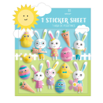 Easter Characters Puffy Stickers - 12 PC