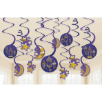 Eid Swirl Decorations - 12 PKG/12