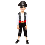 Deckhand Shipmate Costume - Age 6-8 Years - 1 PC