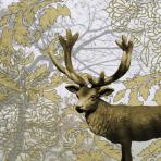 Golden Deer Luncheon Napkins 33cm - 10 PKG/20