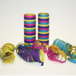 Pink, Lilac, Light Blue & Light Yellow Serpentine Rolls  - 4mm x 7mm (18 throws per roll) 24 PKG/3