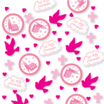 Communion Church Pink Confetti 14g - 6 PC