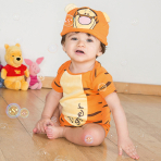 Disney Winnie the Pooh Tigger Jersey Bodysuit & Hat - Age 9-12 Months - 1 PC