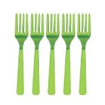 Kiwi Green Plastic Forks - 12 PKG/10