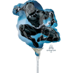Black Panther Mini Shape Foil Balloons A30 - 5 PC