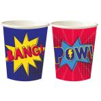 Superhero Mixed Paper Cups 250ml - 6 PKG/8