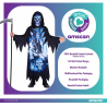 Neon Reaper Sustainable Costume - Age 6-8 Years - 1 PC