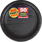 Jet Black Paper Plates 23cm - 6 PKG/50