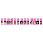 1st Birthday Pink Glitter Photo Garlands 3.65m - 6 PC